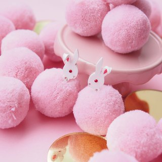 Rabbit Pom Pom Earrings