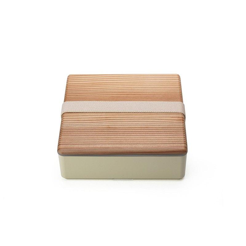 三好製作所 BENTO STORE日式木蓋便當盒L 米黃色