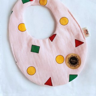 Little New Pajama - Powder - Eight Layers 100% Cotton Double Sided Egg Bib