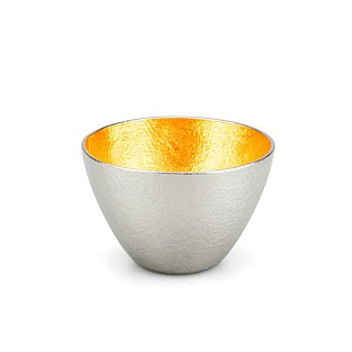 Pure tin gold foil wine glass (L)