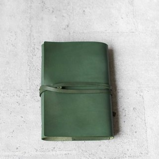 A5 leather olive green cow leather loose-leaf notebook hand book