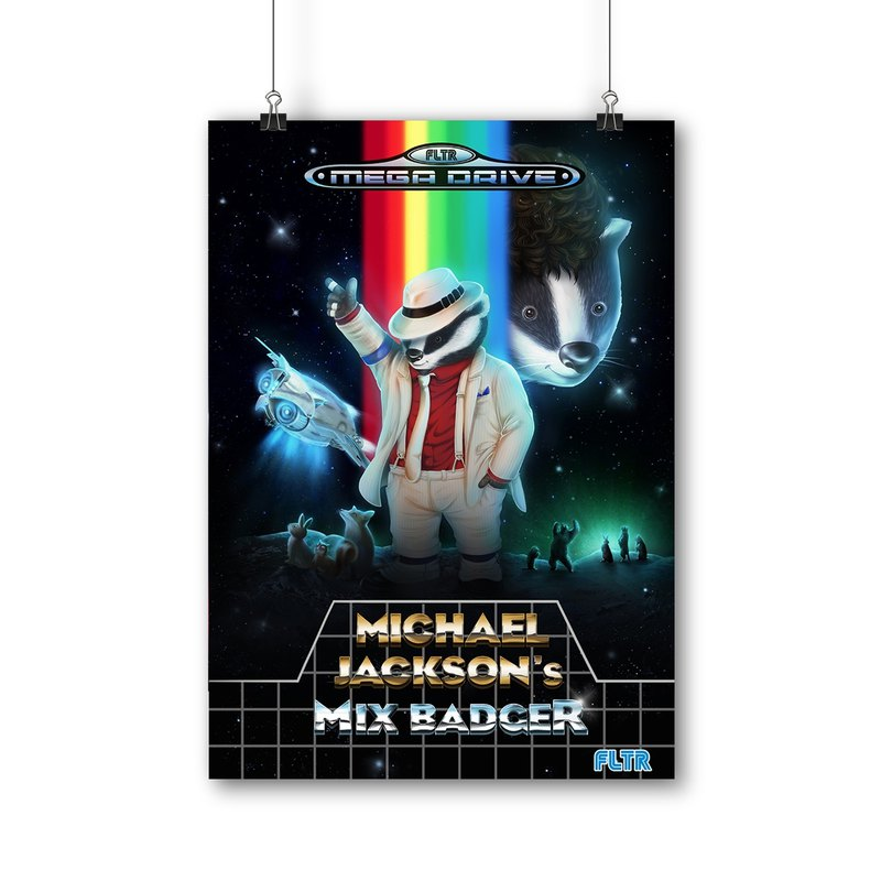 Filter017 Moonwalker Badger  Poster 月球漫步獾海報