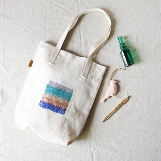 Have combined jiho- embroidered cotton bag