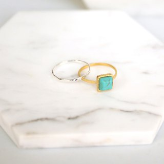 Japanese handmade ornaments - turquoise ring