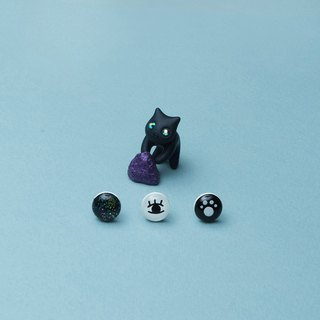Exclusive Product - Black Mystic Cat Earrings