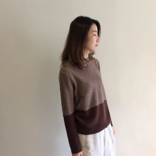 Two-color wool knit Jumper
