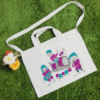 BAND text style wind canvas bag