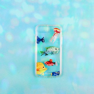 Two-in-one transparent anti-fall mobile phone case [deep sea fish]
