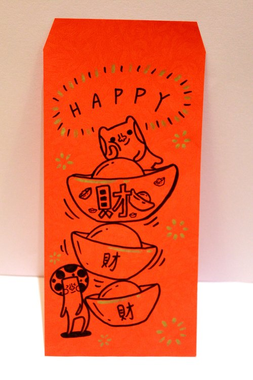 Choi Choi Choi * double-sided hand-painted red envelopes (send 2 into the red bag)