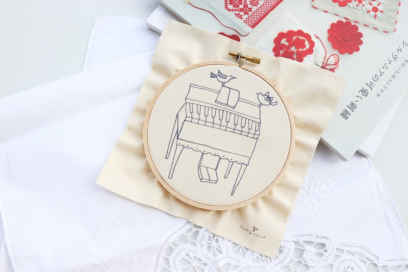 Grand organist grand organ illustration embroidery material package