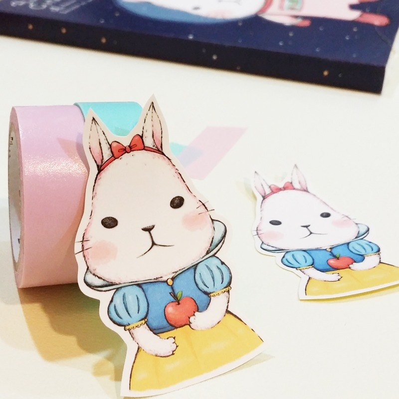 Matte texture sticker / Princess rabbits