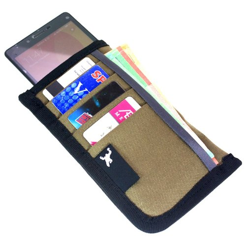 "Greenroom136 - Pocketbook Ping - Slim smart phone 5.5"" wallet - Brown"