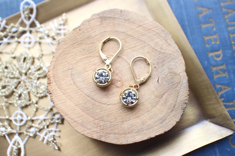 Classic circles-Brass earrings
