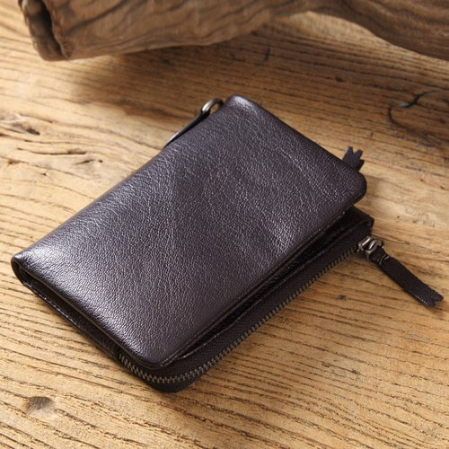 Uncle's wallets features straight short clips in zipper purse gift
