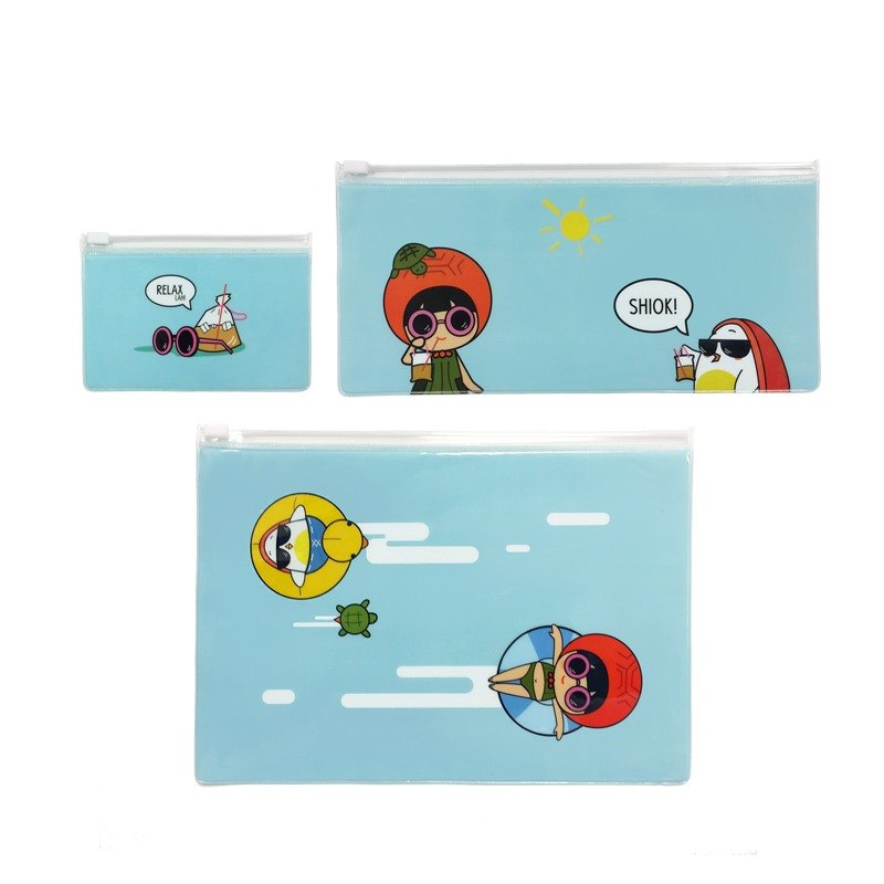 Ang Ku Kueh Girl and Red Egg Travel Series - Travel Pouch (Set of 3) 度假旅游 整理包包