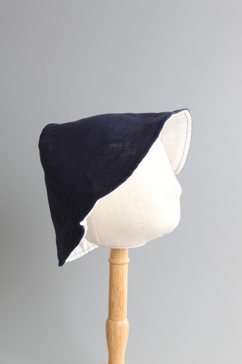 Children series | summer double-sided simple hat series | simple day wear | blue and white