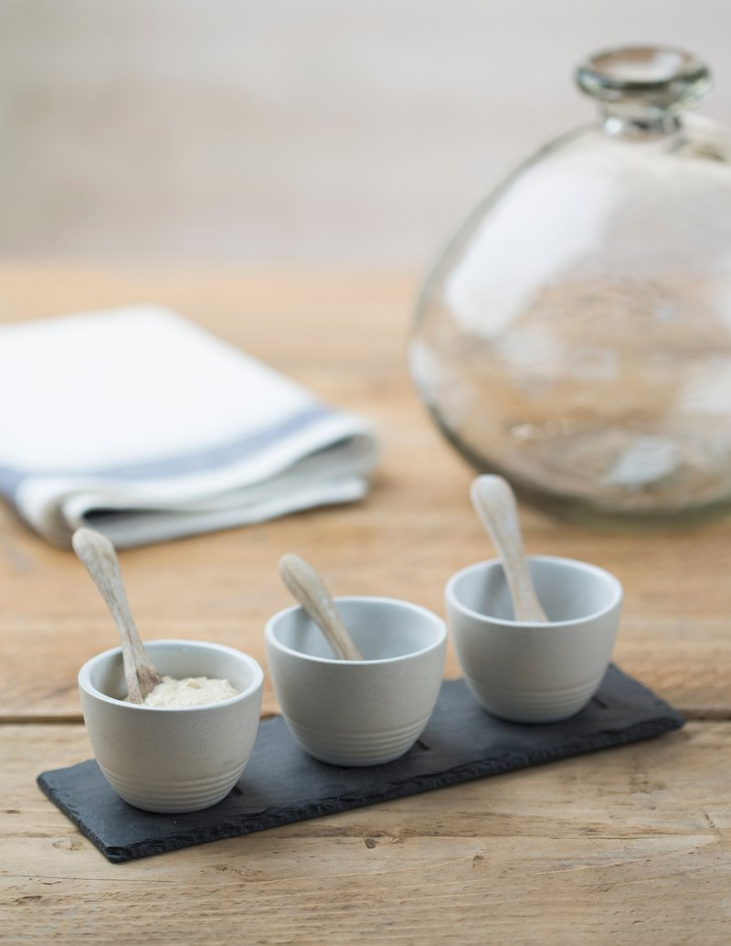 【UK】●Stoneware Condiment Set●  The Just Slate Company