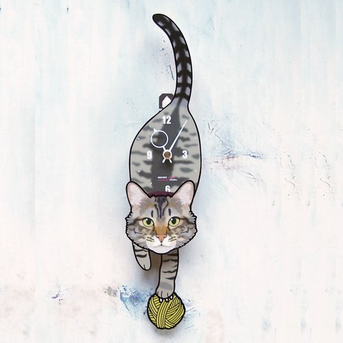 C-43 Brown tabby - Pet's pendulum clock