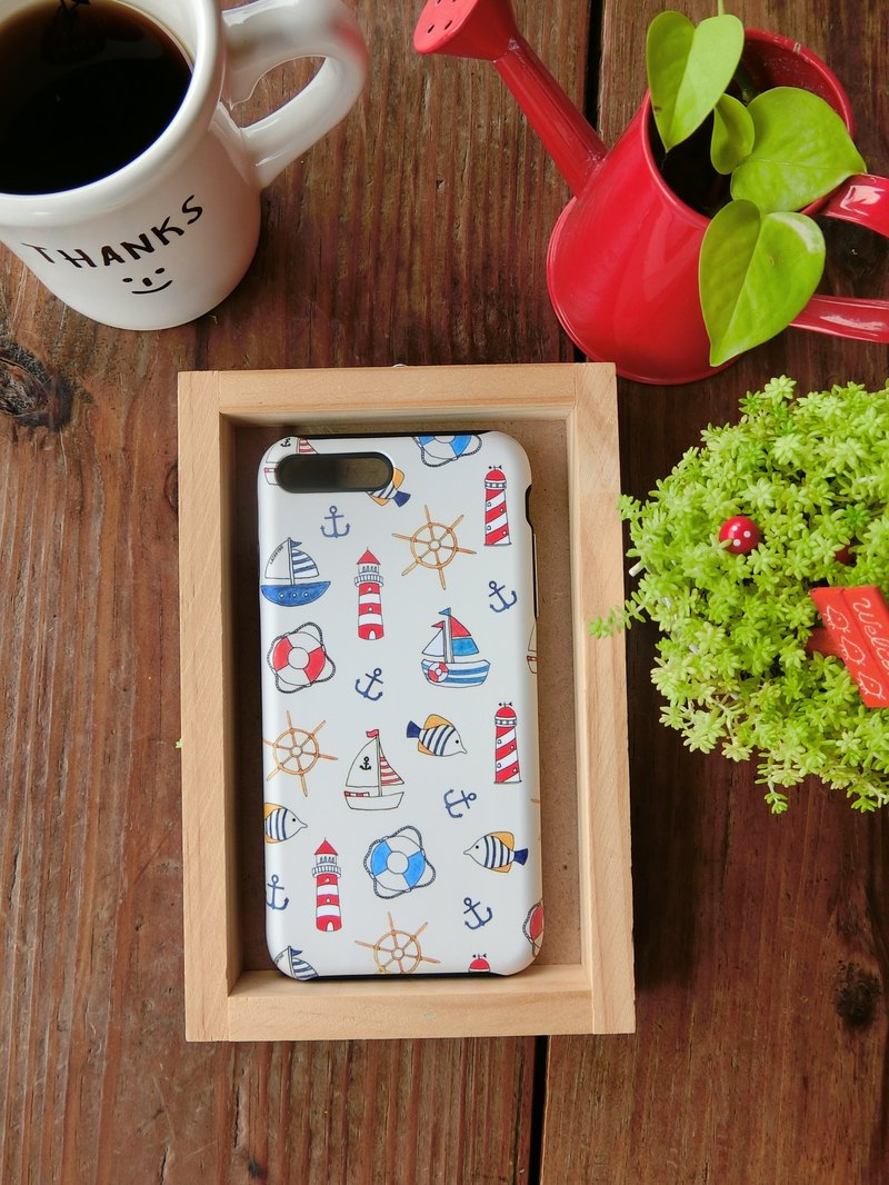 Korean top paint hand made texture phone case (summer sketch) iX i8Note9Note8 S9+S8+