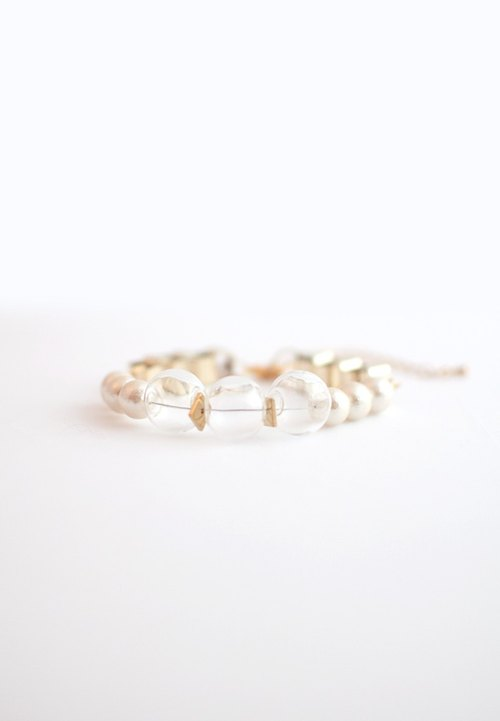 Gold Cotton Pearl Bracelet BL1167