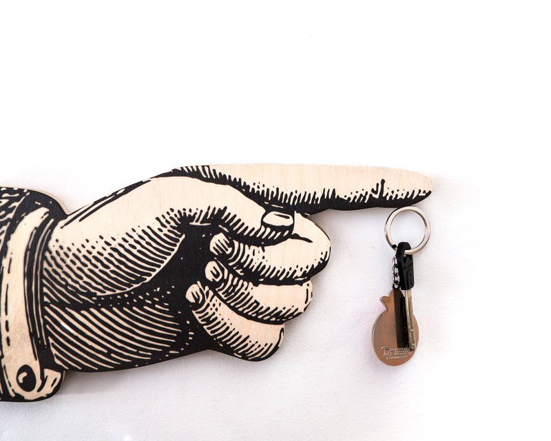 Magnet Key Hook - Key Wall Organizer - on a magnet - Hand - Free shipping //