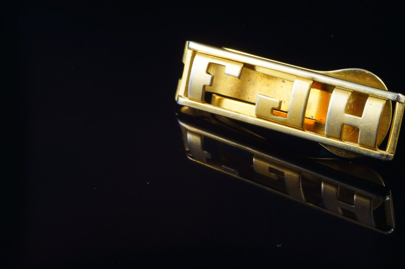 [C'est Cufflinks - US Picks Vintage vintage F JH tie clips also can be used as Money Clip