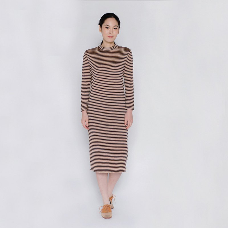 自在真我條紋針織洋裝 Free The Soul Stripe Knit Dress