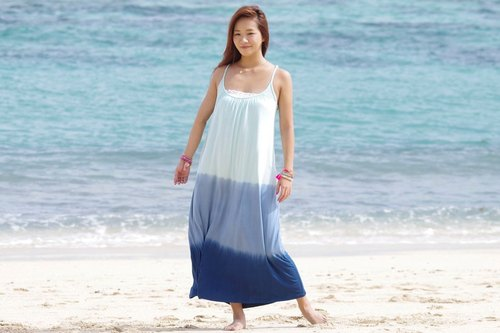 2017 Summer New! Gradient Summer long dress <Ocean>