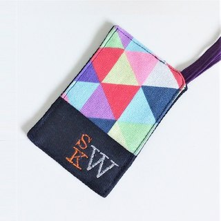 Luggage Tag (Colorful Triangles)