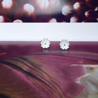 925 sterling silver pretty cute [flower series big flower ear needle]