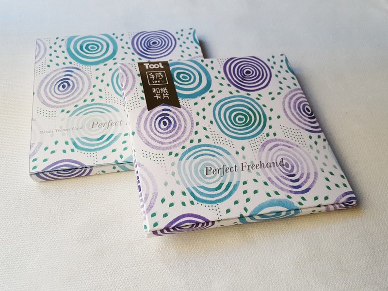 【TooL】和紙卡片組 Washi Card-Ripple Purple / GTIN : 4713077971628