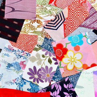 Japanese fabric set, kimono fabric, fabric scraps, 60 pieces【more than 8x8cm】