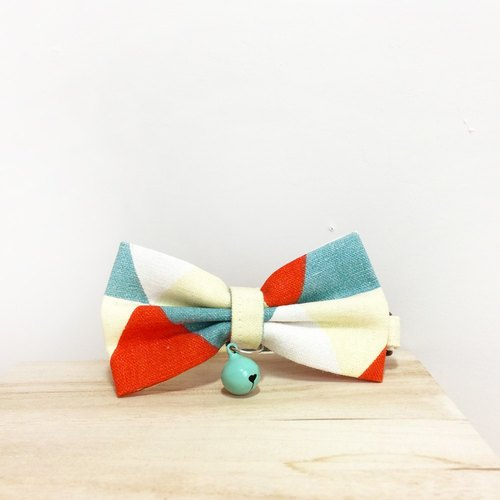 Triangle Geometry Doggie Bow Bow Decorative collar
