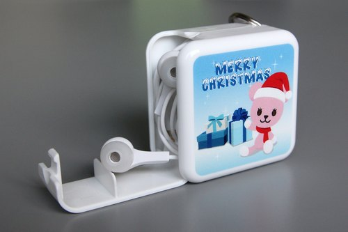 3in1 PostPet momo bear a licensed version of portable storage box phone holder (large) - Christmas Edition [Deluxe Edition Gift bag attached]