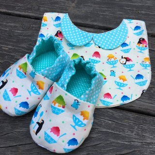 Penguin eat Ice Gift Box - toddler shoes + bibs