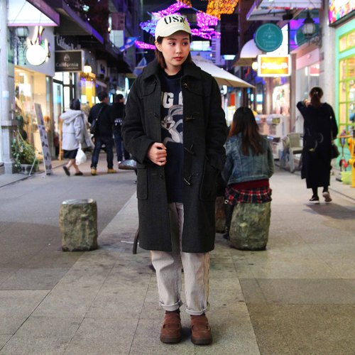 Tsubasa.Y vintage house double-faced cashmere button coat 010 Duffle Coat