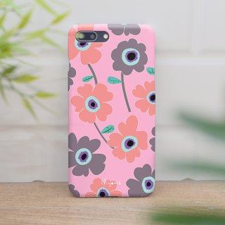 iphone case pastel flowers on pink for iphone5s,6s,6s plus, 7,7+, 8, 8+,iphone x