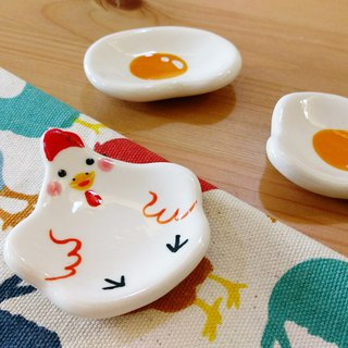 Birthday gift preferred healing small pieces of gas chickens poached egg chopsticks tray a small group of three