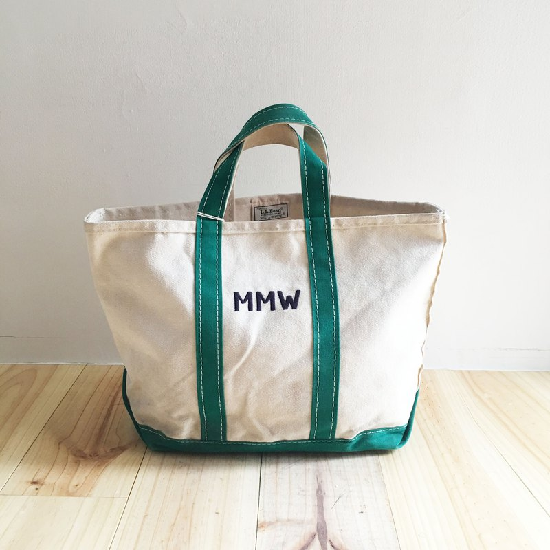 A ROOM MODEL - VINTAGE - LLBean Dark Green MMW Tote / BD-0851