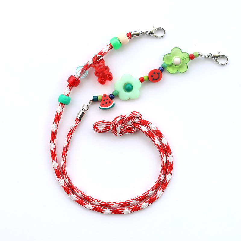 Strap for mask 口罩掛繩 Red green watermelon mask strap