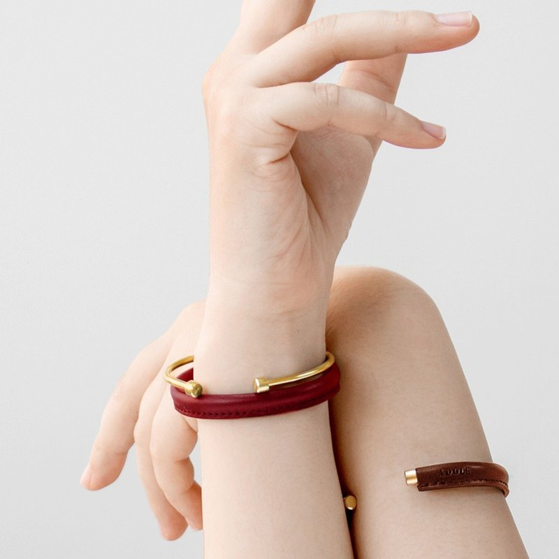 Gemini Gemini bracelets / red, brown