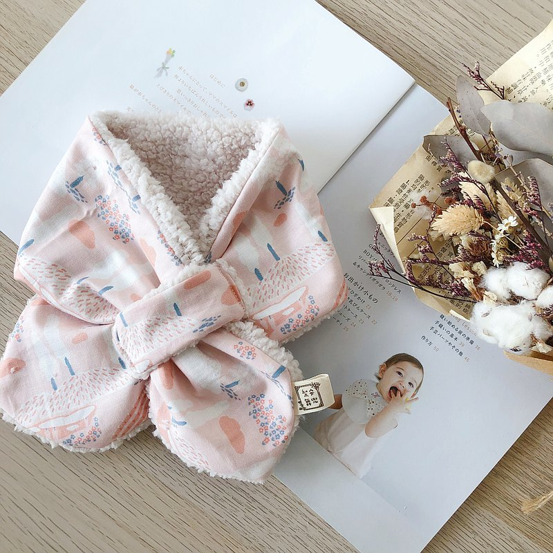 Fenshuqun Korean Organic Cotton Handmade Baby Warm Neck Scarf Mi Moon Gift Box
