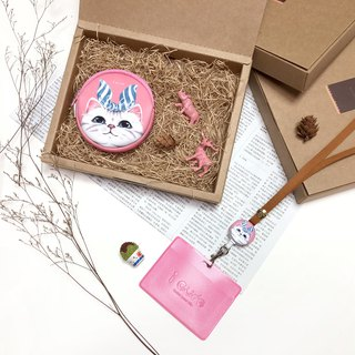 Pink cat good box group