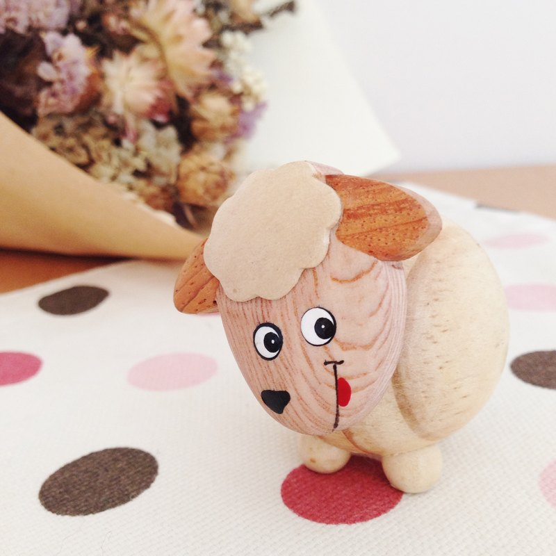 SHEEP memo clip-Wooden hand made