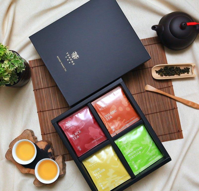 【TeaOne I 原葉茶包禮盒】四款台灣茶品、最佳茶葉伴手禮