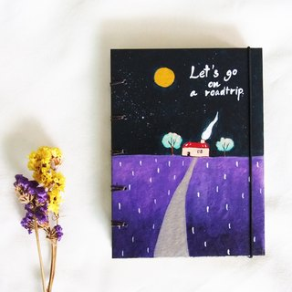 Stars in the night sky, Notebook Painting  Handmadenotebook Diary Journal  筆記本