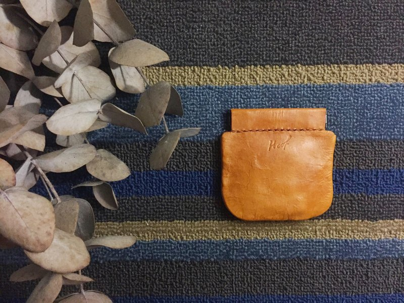 Handmade vegetable tanned leather _ Purse