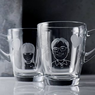 (One pair price) 320cc [students] a couple of cups (Lite) Q version portrait doll mug Valentine's Day gift Christmas gifts Students