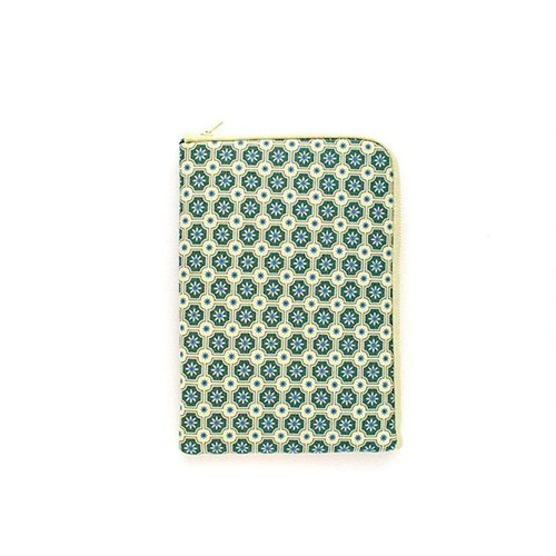iPad storage bag / old tiles on the 2nd / beige gray green