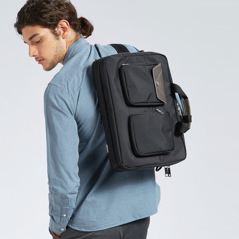 防水佳可加大 LUSTRE 3用15.6吋高機能後背包-墨黑